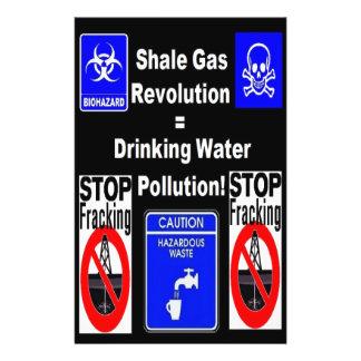 Shale Gas Revolution = Drinking Water Pollution! 14 Cm X 21.5 Cm Flyer