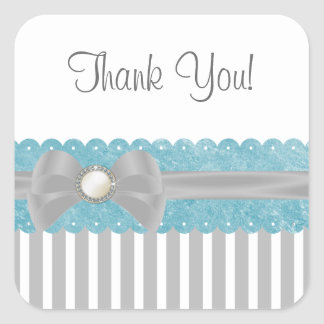 Shalizar Dreaming Baby Shower Thank You Sticker
