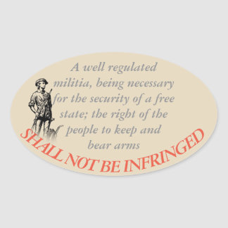 Shall Not Be Infringed Oval Sticker