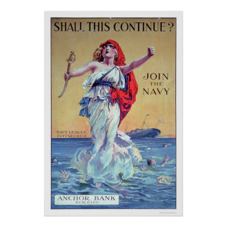 Shall this Continue?  Join the Navy (US02287) Poster