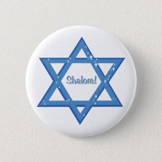 Shalom! 6 Cm Round Badge