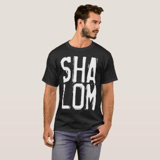 SHALOM Black T-shirts. Jewish, Peace T-Shirt