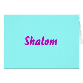 Shalom  (blank inside) card