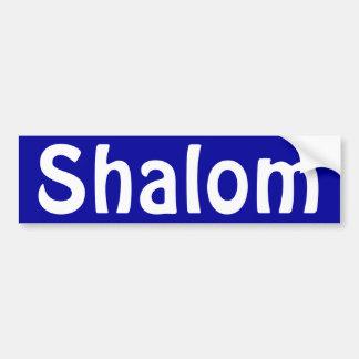 Shalom Blue Bumper Sticker