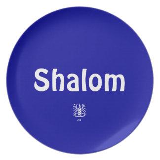 Shalom Blue Plate