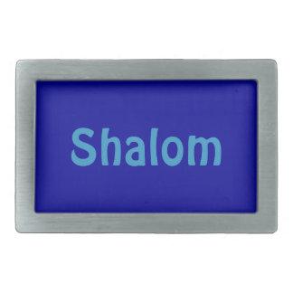 Shalom Blue Rectangular Belt Buckle