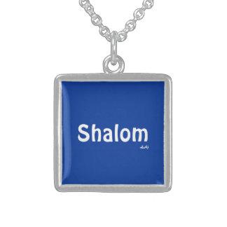Shalom Blue Square Necklace