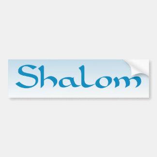 Shalom Bumpersticker Car Bumper Sticker