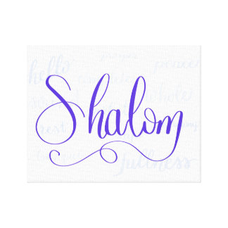 Shalom Canvas Print with Meanings