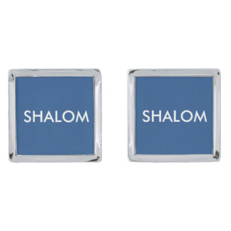SHALOM CUFF LINKS SILVER FINISH CUFFLINKS