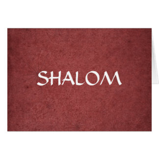 Shalom Distressed Red Card