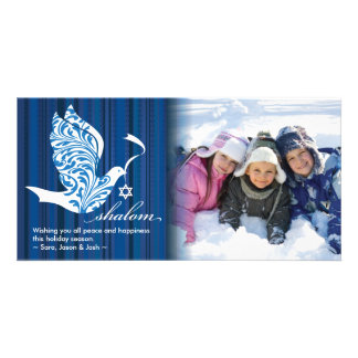 Shalom Dove Horizontal Customized Photo Card