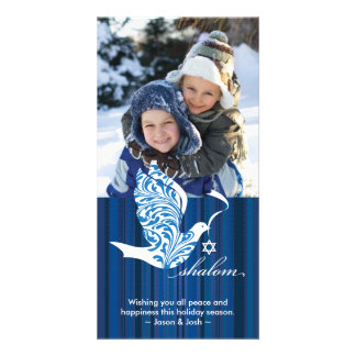 Shalom Dove Vertical Photo Greeting Card