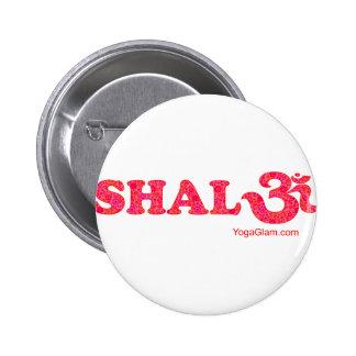 Shalom flowers button
