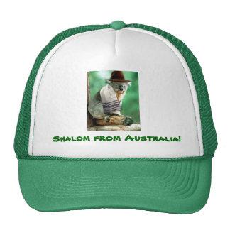 Shalom from Australia Cap Mesh Hats