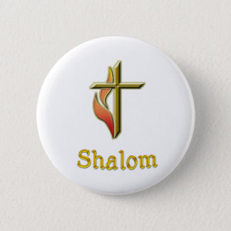 Shalom gifts 6 cm round badge