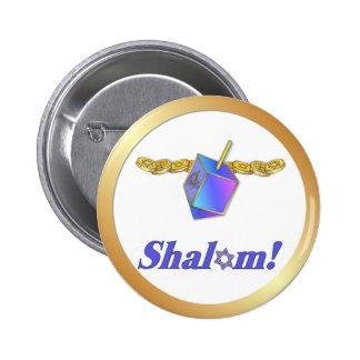 Shalom Hanukkah Pin