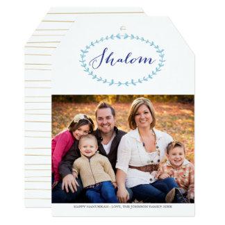 Shalom Hanukkah Photo Card 13 Cm X 18 Cm Invitation Card