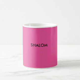 Shalom is another word for Peace. Basic White Mug