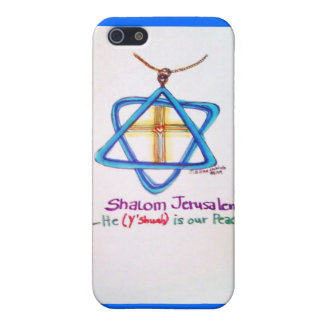 Shalom Jerusalem Capital of Israel iPhone cover iPhone 5 Cases