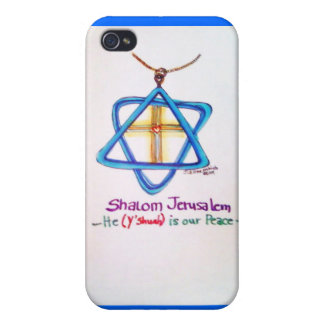 Shalom Jerusalem Capital of Israel iPhone cover iPhone 4 Cover