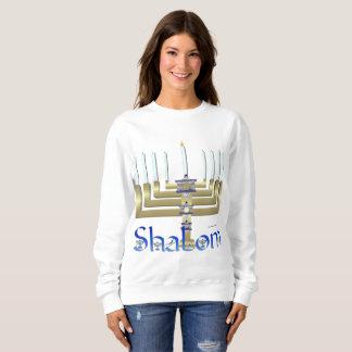 Shalom Menorah Ladies Sweatshirt