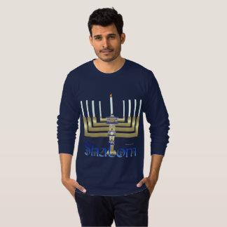 Shalom Menorah Men's Long Sleeve Shirt