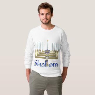 Shalom Menorah Men's Raglan Sweatshirt