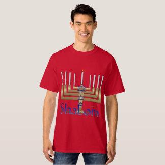 Shalom Menorah Men's Tall T-Shirt