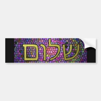 Shalom Peace Bumper Sticker Car Bumper Sticker