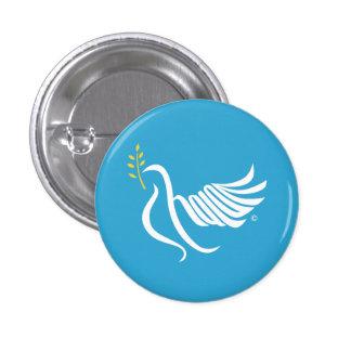 Shalom Peace dove Button
