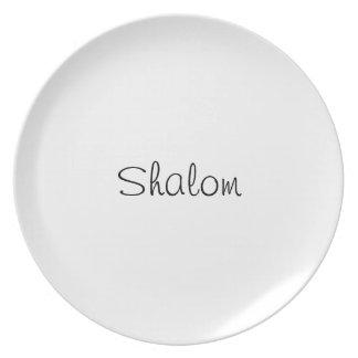 Shalom plate
