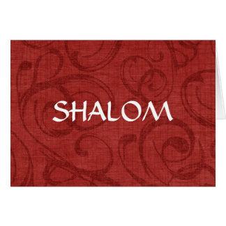 Shalom Red Swirls Card