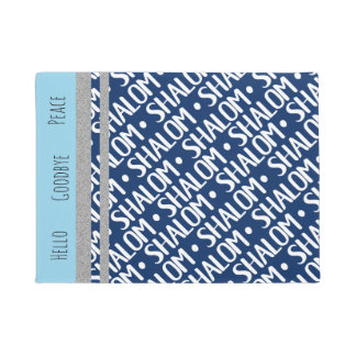 Shalom Repeat Custom Dark Background withText Doormat
