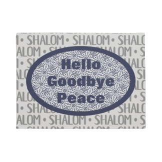 Shalom Repeat Pattern with Faux Lace Doormat