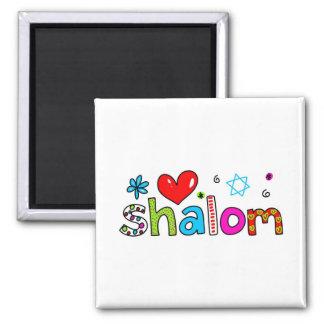 Shalom Square Magnet