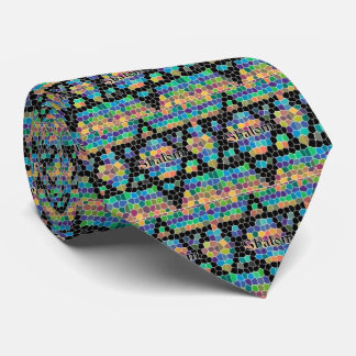 Shalom-Star of David/colorful Tie