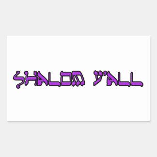 shalom rectangular sticker