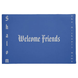 Shalom Welcome Friends Door Mat
