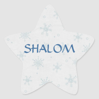 Shalom Wishes Hanukkah Star Sticker