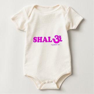 Shalom with Om in Sanskrit Baby Bodysuit