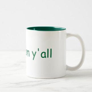 shalom y all mug
