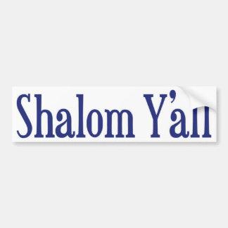Shalom Y'all Bumper Sticker