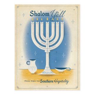 Shalom Y'all Postcard