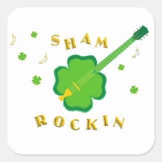 Sham Rockin' Square Sticker