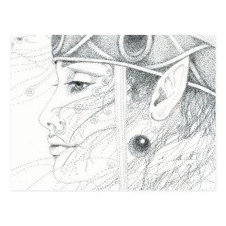 Shaman angel guide postcard