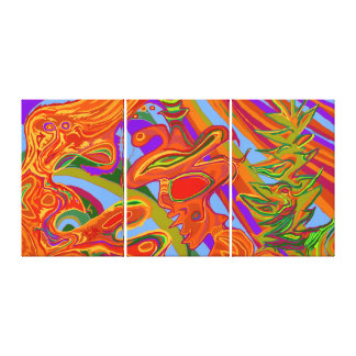 Shaman Art - large- triptych Canvas Print