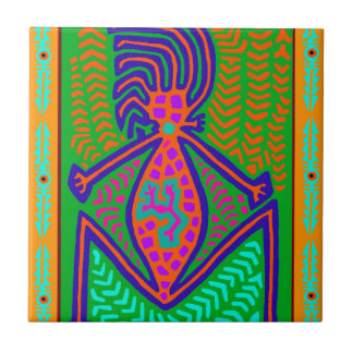 Shaman Earth Mother Small Square Tile