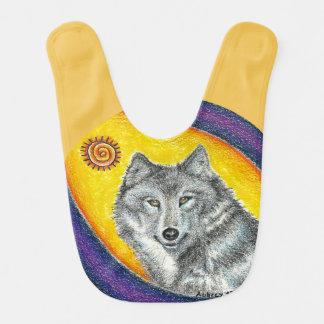 Shaman Healing Wolf Baby Bibs