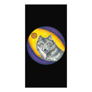 Shaman Healing Wolf Photo Card Template